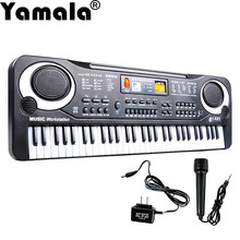 [Yamala] 61 Keys Creative Digital Music Electronic Keyboard Key Board Gift Electric Piano Gift New US plug for Children(China)
