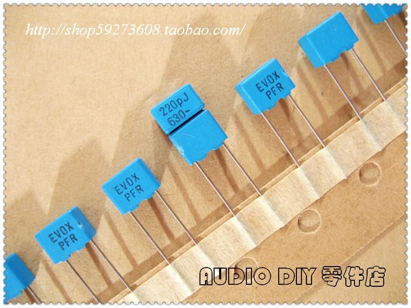 50Pcs 10 Value 1nF-0.47uF Set Polypropylene Safety Plastic Film Capacitor Kit OS