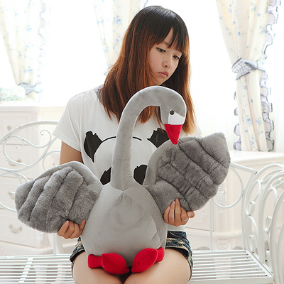 stuffed plush toy large 50cm cartoon gray swan plush toy doll soft throw pillow Christmas gift b0448<br>