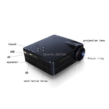 Home Cinema Theater Multimedia LED LCD Projector HD 1080P PC AV TV VGA USB HDMI(China)