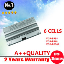Wholesale 6CELLS laptop battery FOR SONY VAIO VGP-BPS8 VGP-BPS8 VGP-BPL8 VGP-BPS8A FZ50B FZ90S PCG-3A1M [NO CD ] free shipping