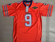 Viva Villa Stitched 9 Bobby Boucher The Waterboy Football Jersey 50th Anniversary Jerseys Orange S-3XL Free Shipping(China)