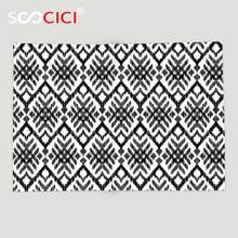 Custom Soft Fleece Throw Blanket Tribal Diagonal Ethnic Bohemic Design Made with Stripes and Little Triangle Lines Art Black(China)