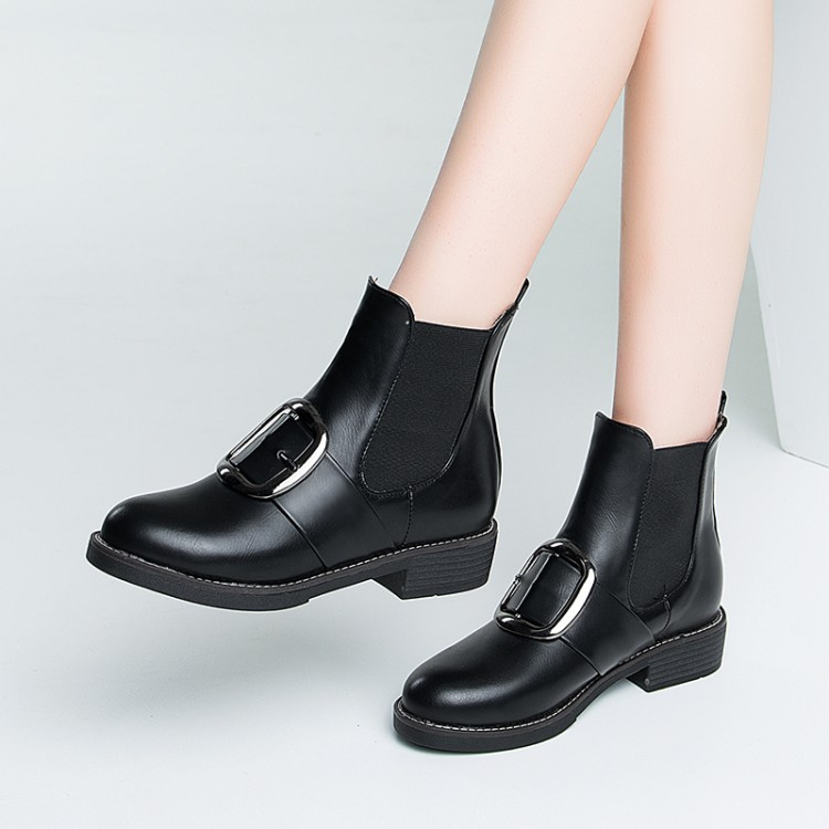 SWYIVY Woman Chelsea Boots Ankle High Thick Fur Warm Female Casual Snow Shoes Winter New Arrived Ladies Plush Warm Snow Boots 43