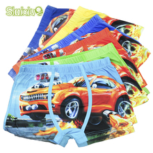 5 Pcs/lot Cartoon Car Kids Boy Underwear For Baby Children's Boxer Underpants Briefs Boys Underware Pants For 3-11 Y(China)