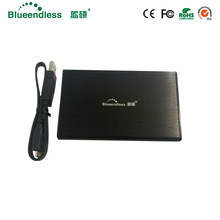 "2.5 external hdd enclosure sata usb 3.0 aluminum caddy suit for 2.5"" sata hdd ssd metal hdd case high quality for hard disk 1tb(China)"