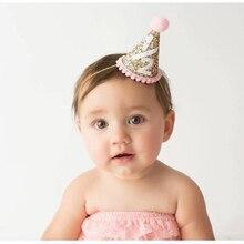 1 2 Birthday Hat Half Glitter Girls Party Photo Shot Newborn
