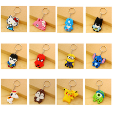 suti Cute Cartoon Anime Silicone Keyring Stitch Keychain Women Key Chain Key Ring Key Holder good gift
