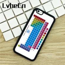 LvheCn TPU Phone Cases For iPhone 6 6S 7 8 Plus X 5 5S 5C SE 4 4S ipod touch 4 5 6 Cover Periodic Table Of The Elements