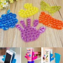 2016 New Double Space Sucker Super Strong Suction Strong Plastic Sucker Bathroom Double Sided Suction PVC Suction Cup Holder(China)