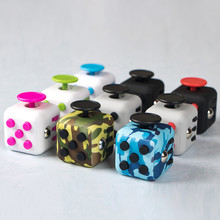 13 Styles 3.3cm Big Fidget Cube Toys for Magic AntiStress Squeeze Fun Stress Reliever For Adults Children Gift durable Feel Good(China)