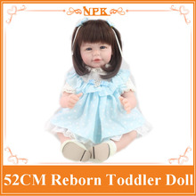 Unique Middle Long Hair 52cm 20inch New Reborn Toddlers Dolls Hot Sell Reborn Cheap Dolls For Kids As Birthday /Christmas Gift(China)