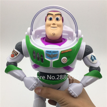 Toy Story 3 Buzz Lightyear Toys Lights Voices Speak English Action Figures 10 inch A075(China)