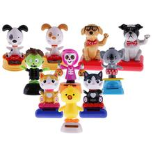 10 Types Solar Powered Dancing Flip Flap Car Home Office Desk Ornaments Decoration Dancer Bobble Head Toy Kids Chrismas Gifts(China)