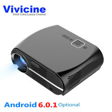 Vivicne Newest 3500 Lumens Portable HD LED WIFI Home Theater Cinema Projector,Optional Android 6.0.1 Bluetooth Multimedia Beamer(China)