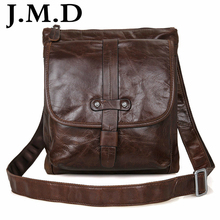 J.M.D Vintage Genuine Leather Chocolate Men Messenger Bags Shoulder Bag Purse HOBO Handbags Direct Manufacturer 7045(China)