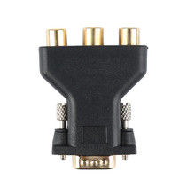 NEW 3 RCA RGB Video Female To HD 15-Pin VGA Component Video Jack Adapter Plug Connector