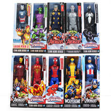"8Styles 12""30CM Superhero The Avengers Iron Man Captain America Spiderman Green Goblin Venom PVC Action Figure Can Moved Model"