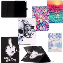 Big Finger For Apple iPad Mini 4 Case Cover Book Black PU Leather Smart Stand Wallet Card Holder Flip Case Tablet For Kid Girl(China)