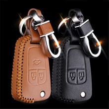 Car Genuine Leather Bag Remote Control Car Keychain Key Cover Case For Buick Excelle GT/Regal/Encore 2/3/4Button Flip Key  L1090
