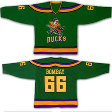 Ice Hockey Jersey Mighty Ducks Movie Jerseys #66 BOMBAY Stitched Jerseys Winter Sport Wear Ice Wholesale Dropship Factory Outlet
