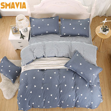 SMAVIA Hot Sale Home Textile 3/4pc Bedding Sets 100% Polyester Home Hotel Bed Linen Duvet cover Bed Sheets pillowcase Set 5 size