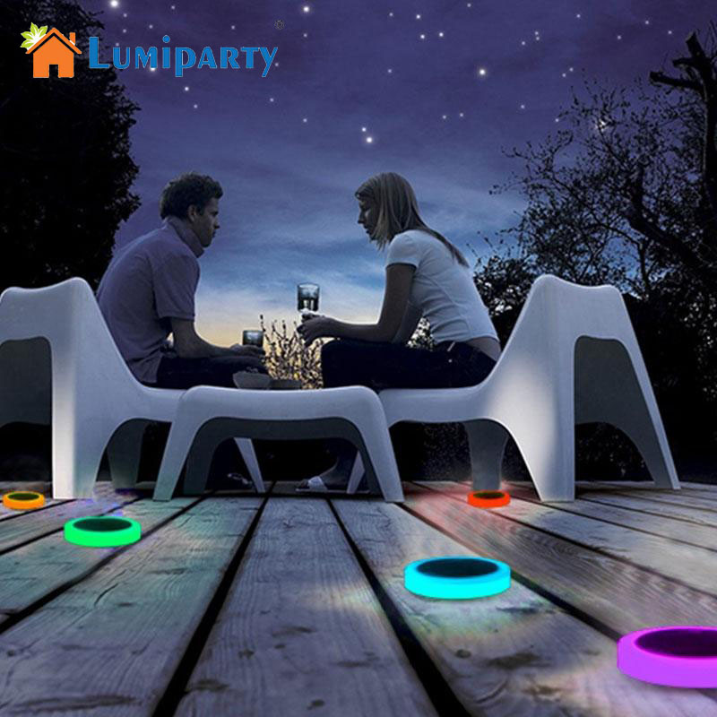 LumiParty 24-LED RGB Waterproof Solar Light 16 Colors IR Remote Controller Floating Lights Path Landscape Lamp for Garden<br>