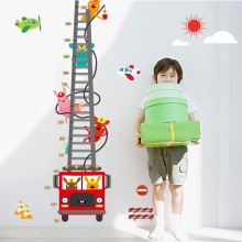 Cartoon Fire engines firemen Children height wall stickers,For kindergarten children room fashion decor wall stickers