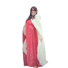 Maternity Wedding Cloak Ivory Long Bridal Hooded Cape Faux Fur Winter Party Wrap Stole Christmas(China)
