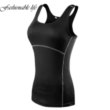 Compression Under Base Wear Womens Sleeveless Tank Tops Ladies Casual Shirts Cami Vest(China)
