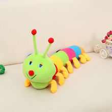 Cute Fascinating Colorful kawaii Inchworm Soft Lovely pillow toy Developmental Baby kids toys for children Doll 2015 hot