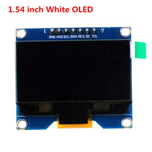 1.54 inch White OLED Display Module 128x64 SPI IIC I2C Interface OLED Screen Board 3.3-5V UART