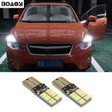BOAOSI 2x New Car LED T10 Canbus W5W No error Wedge Light For Subaru impreza legacy xv forester Outback Tribeca Fiat
