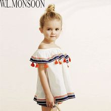 Girls Summer Dress with Tassel 2017 Brand Rapunzel Costume Kids Dresses for Girls Clothes Cotton Princess Hollow Dress 2Colors