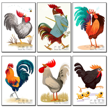 Cartoon Animals 5D DIY Diamond Painting Big Cock Picture Full Drill Embroidery Beadwork Gift Cross Stitch For Fun Diamond Mosaic