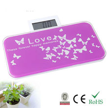 180kg mini glass silk screen printing platform electronic bathroom scale as promotional gift to your friends or clients