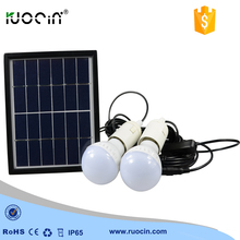 Cheaper High efficiency Solar Led Light Bulb Outdoor solar lamp with 2 Bulbs New Solar garden light Solar lighting system
