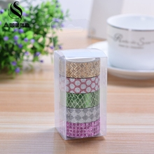 Printing Carving Scrub Glitter Washi Roll DIY Decor Scrapbooking Sticker Masking Paper Decoration Tape Adhesive School Supplies