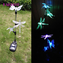 Hot Sale Outdoor Garden Solar LED Light Solar Powered LED Home Lawn Lamp Landscape Night Butterfly Lamp 1Pc l70713(China)