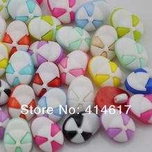 100pcs fashion mix colors cute hat sewing Baby/Kid's Sweing Backhole buttons PT68(China)