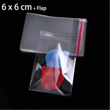 200pcs/dozen Transparent Small Plastic Bags 6cm x 6cm Favor Christmas Party Gift Bag Jewelry Packaging Bags & Pouches