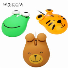 Malloom 2017 1200 DPI Wired Optical Gaming Mouse Cute Animal Mice USB Mouse Gamer for PC Laptop Computer Mouse Dropshipping(China)