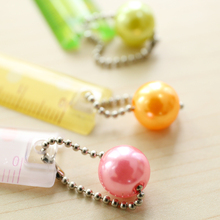 Kawaii Cute Slim Bean Nut Measuring Straight Ruler With Pendant Drawing Tool Stationery School Supply Student Rewarding