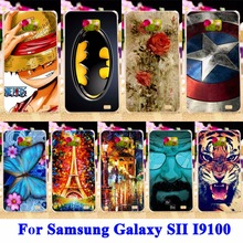 Panda Tiger Cat Painted Phone Cases Covers For Samsung Galaxy SII I9100 Shell Hood S2 GT-I9100 Hard Plastic Housing Bags Skin