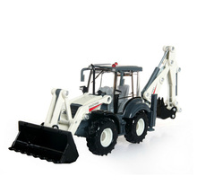 Two-way Excavator model scale 1:50 ABS Alloy Diecast Truck Model 4 rubber wheels shovel model engineer machine collections toys(China)