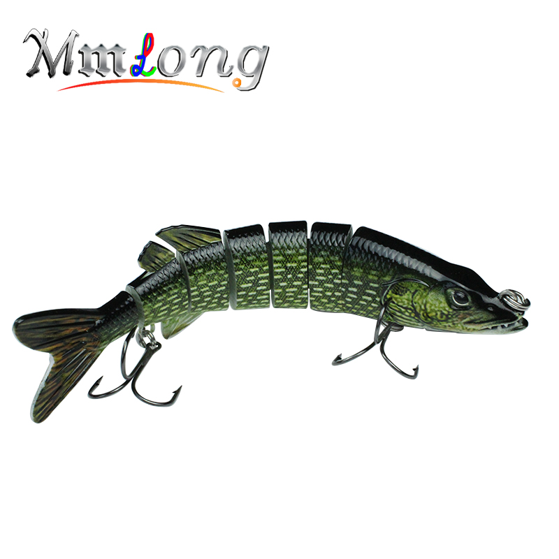 7/59g High Quality Pike Fishing Lure 7 Segment Jointed  Artificial Crankbait Hard Fishing Swim Bait VMC Hook Fish tackle Pesca<br><br>Aliexpress