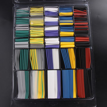 500PCS New Polyolefin 2:1 Heat Shrink Tubing Wire Cable Sleeving Wrap Tube Kit Electrical Equipment 10 Colors