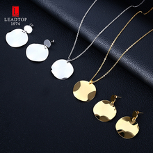 High Quality Bridal Jewelry Set For Women,Dubai Gold and Silver Round Metal Jewelry Set In Stainless Steel(China)