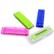 Baby Harmonica Children Plastic Music Instrumental Toy Kids Educational Learning Toys Random Color New Year Birthday Gift(China)