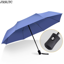 2017 New Automatic Umbrella Bone ReinforceWindproof Three Fold Umbrella Rain and Rain Dual Purpose Men Women Folding Umbrella